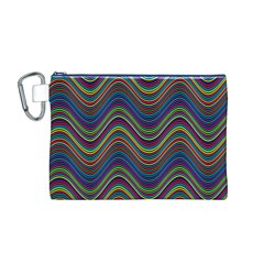 Decorative Ornamental Abstract Canvas Cosmetic Bag (M)