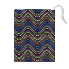 Decorative Ornamental Abstract Drawstring Pouches (Extra Large)