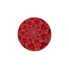 Fractal Art Elegant Red Golf Ball Marker (4 pack)