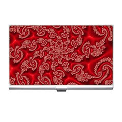 Fractal Art Elegant Red Business Card Holders