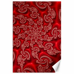 Fractal Art Elegant Red Canvas 20  x 30