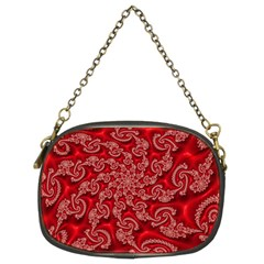 Fractal Art Elegant Red Chain Purses (Two Sides)
