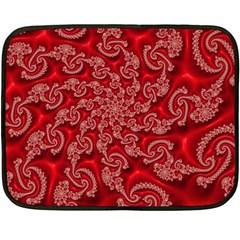 Fractal Art Elegant Red Fleece Blanket (Mini)