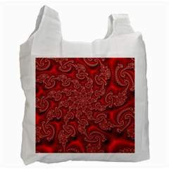 Fractal Art Elegant Red Recycle Bag (Two Side)