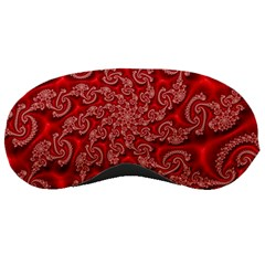 Fractal Art Elegant Red Sleeping Masks