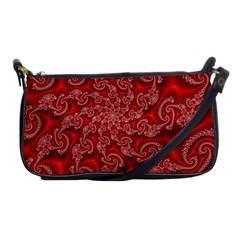 Fractal Art Elegant Red Shoulder Clutch Bags