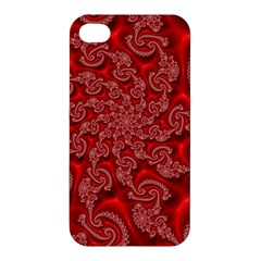 Fractal Art Elegant Red Apple iPhone 4/4S Hardshell Case