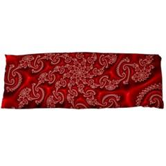 Fractal Art Elegant Red Body Pillow Case Dakimakura (Two Sides)