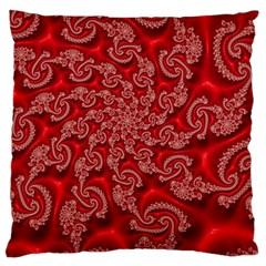 Fractal Art Elegant Red Large Cushion Case (Two Sides)