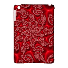 Fractal Art Elegant Red Apple iPad Mini Hardshell Case (Compatible with Smart Cover)