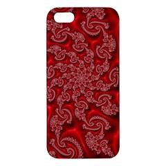 Fractal Art Elegant Red Apple iPhone 5 Premium Hardshell Case