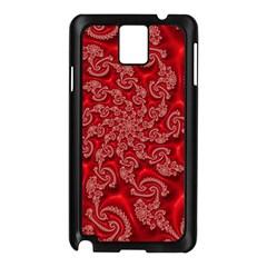 Fractal Art Elegant Red Samsung Galaxy Note 3 N9005 Case (Black)