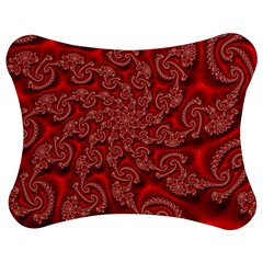 Fractal Art Elegant Red Jigsaw Puzzle Photo Stand (Bow)