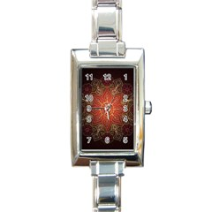 Floral Kaleidoscope Rectangle Italian Charm Watch