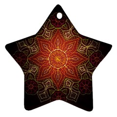 Floral Kaleidoscope Ornament (star)
