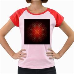 Floral Kaleidoscope Women s Cap Sleeve T-Shirt