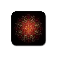 Floral Kaleidoscope Rubber Coaster (Square)