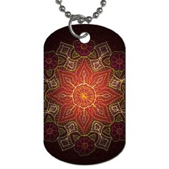 Floral Kaleidoscope Dog Tag (One Side)