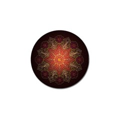 Floral Kaleidoscope Golf Ball Marker