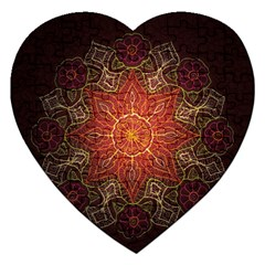Floral Kaleidoscope Jigsaw Puzzle (Heart)