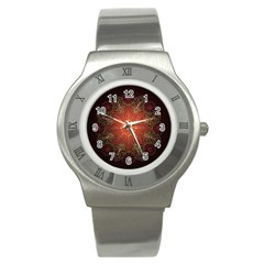 Floral Kaleidoscope Stainless Steel Watch