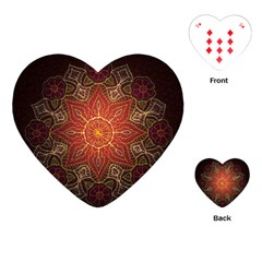 Floral Kaleidoscope Playing Cards (heart)