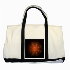 Floral Kaleidoscope Two Tone Tote Bag