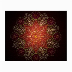 Floral Kaleidoscope Small Glasses Cloth (2-Side)