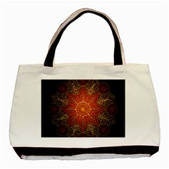 Floral Kaleidoscope Basic Tote Bag (Two Sides)