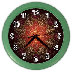 Floral Kaleidoscope Color Wall Clocks