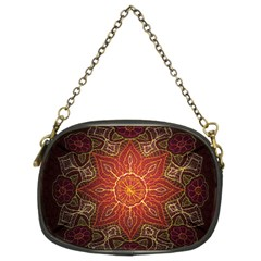 Floral Kaleidoscope Chain Purses (Two Sides)