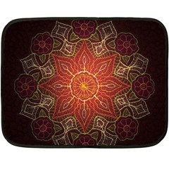 Floral Kaleidoscope Fleece Blanket (Mini)
