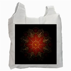 Floral Kaleidoscope Recycle Bag (One Side)