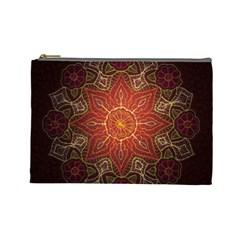 Floral Kaleidoscope Cosmetic Bag (Large)