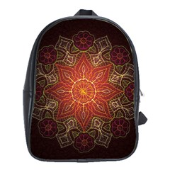Floral Kaleidoscope School Bags(Large)