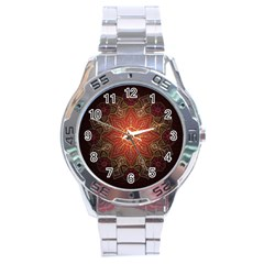Floral Kaleidoscope Stainless Steel Analogue Watch