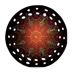 Floral Kaleidoscope Round Filigree Ornament (Two Sides)