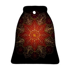 Floral Kaleidoscope Bell Ornament (Two Sides)