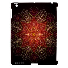 Floral Kaleidoscope Apple Ipad 3/4 Hardshell Case (compatible With Smart Cover)