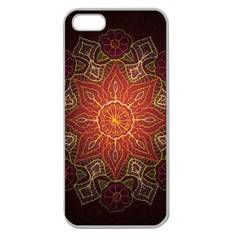 Floral Kaleidoscope Apple Seamless iPhone 5 Case (Clear)