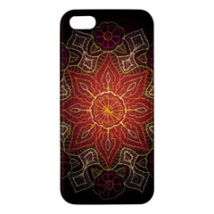 Floral Kaleidoscope Apple Iphone 5 Premium Hardshell Case