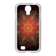 Floral Kaleidoscope Samsung Galaxy S4 I9500/ I9505 Case (white)
