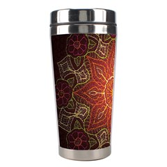 Floral Kaleidoscope Stainless Steel Travel Tumblers