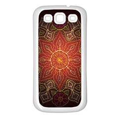 Floral Kaleidoscope Samsung Galaxy S3 Back Case (White)