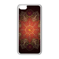Floral Kaleidoscope Apple iPhone 5C Seamless Case (White)
