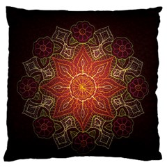 Floral Kaleidoscope Standard Flano Cushion Case (Two Sides)