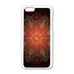 Floral Kaleidoscope Apple Iphone 6/6s White Enamel Case