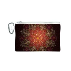 Floral Kaleidoscope Canvas Cosmetic Bag (S)