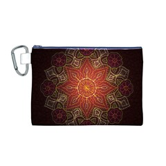 Floral Kaleidoscope Canvas Cosmetic Bag (M)