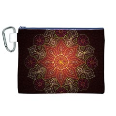 Floral Kaleidoscope Canvas Cosmetic Bag (XL)